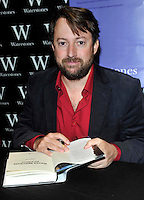 Oxford -  Popular TV comedian David Mitchell signs his autobiography 'David Mitchell: Back Story' at Waterstone's, Broad Street, Oxford, UK - October 16th 2012..Photo by Ross Stratton