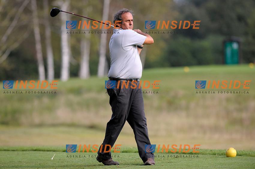 Michel Platini.Pro Am Vialli Mauro - Torneo di Golf.La Mandria (TO), 05/09/2011.© Giorgio Perottino / Insidefoto