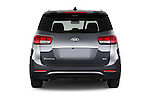 Straight rear view of 2015 KIA Sedona EX 5 Door Minivan Rear View  stock images