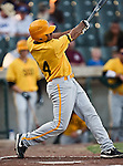 Amarillo Sox Outfielder Fehlandt Lentini (24) in action during the American Association of Independant Professional Baseball game between the Amarillo Sox and the Fort Worth Cats at the historic LaGrave Baseball Field in Fort Worth, Tx. Fort Worth defeats Amarillo 3 to 0......