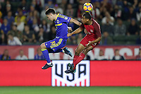 Carson, CA - Sunday January 28, 2018: Luka Menalo, Tyler Adams during an international friendly between the men's national teams of the United States (USA) and Bosnia and Herzegovina (BIH) at the StubHub Center.
