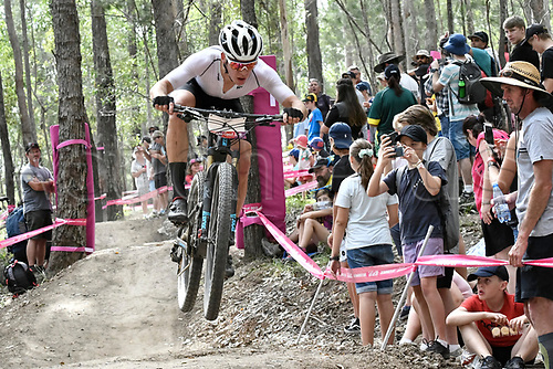 12th April 2018, Nerang Mountain Bike Trails, Gold Coast, Australia; Commonwealth Games day 8; Men's Cross Country; Ben Oliver of New Zealand