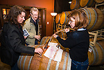 Amador Vintners' Behind the Cellar Door wine eduction seminars and food at various Amador County wineries--tasting from the barrel at Avio Winery