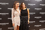 Spanish singer Ana Guerra and Italian fashion designer Alessandra Rinaudo during the presentation of the new Pronovias 2020 collection. September 25, 2019. (ALTERPHOTOS/Johana Hernandez)