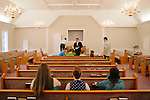 The Sunday service at Camp Creek Primitive Baptist Church in Lilburn, Georgia September 30, 2012...The church, which was formed in 1823 is the oldest active church in Gwinnett County, Georgia and currently has around 70 members. Pastor John Melvin, who is also the Assistant District Attorney in Deklab County, has been pastor of the church for fourteen years.
