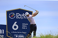 Lucas Bjerregaard (DEN) tees off the 6th tee during Thursday's Round 1 of the Dubai Duty Free Irish Open 2019, held at Lahinch Golf Club, Lahinch, Ireland. 4th July 2019.<br /> Picture: Eoin Clarke | Golffile<br /> <br /> <br /> All photos usage must carry mandatory copyright credit (© Golffile | Eoin Clarke)
