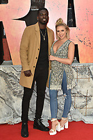 Marcel Somerville, Gabby Allen<br /> 'Rampage'' european film premiere in Leicester Square, London, England on April 11, 2018.<br /> CAP/PL<br /> &copy;Phil Loftus/Capital Pictures