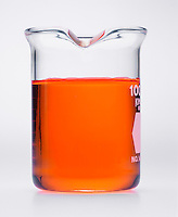 PHENOL RED: ACID-BASE INDICATOR<br /> In Solution of NaCl(aq) (4 of 4)<br /> Phenol red is ORANGE in a neutral solution of 0.10M sodium chloride. The effective range of phenol red is about pH 6.8 to 8.4.