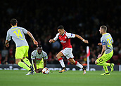 14th September 2017, Emirates Stadium, London, England; UEFA Europa League Group stage, Arsenal versus FC Cologne; Alexis Sanchez of Arsenal takes the ball across the park