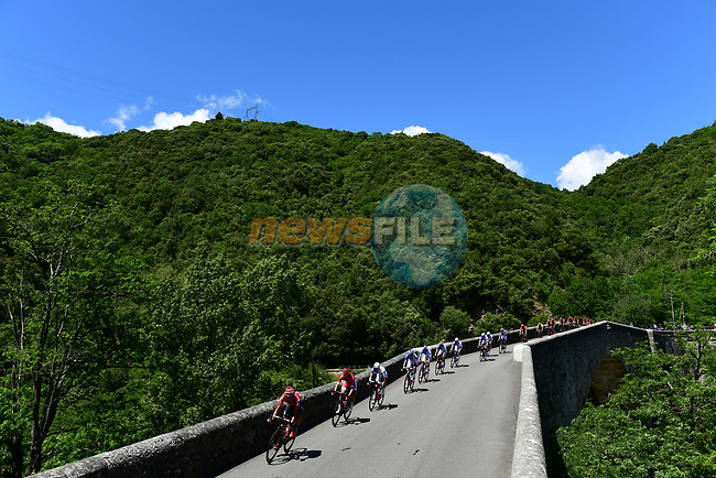 The peloton in action during Stage 3 of the Criterium du Dauphine 2017, running 184km from Chambon-sur-Lignon to Tullins, France. 6th June 2017. <br /> Picture: ASO/A.Broadway | Cyclefile<br /> <br /> <br /> All photos usage must carry mandatory copyright credit (&copy; Cyclefile | ASO/A.Broadway)