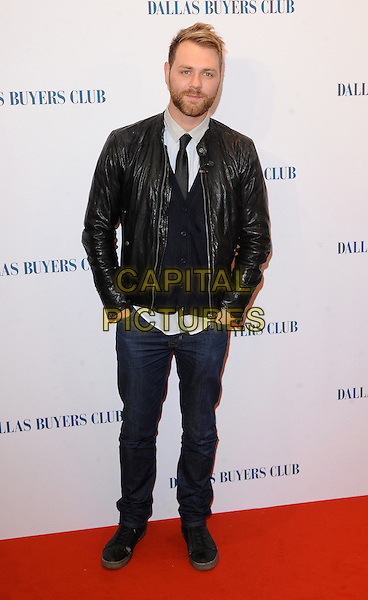 LONDON, ENGLAND - JANUARY 29: Brian McFadden attends the UK Premiere of Dallas Buyers Club at The Curzon Mayfair on January 29, 2014 in London, England<br /> <br /> CAP/BEL<br /> &copy;Tom Belcher/Capital Pictures