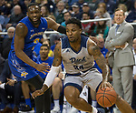 Nevada forward Jordan Caroline (24) drives against South Dakota State in the first half of an NCAA college basketball game in Reno, Nev., Saturday, Dec. 15, 2018. (AP Photo/Tom R. Smedes)