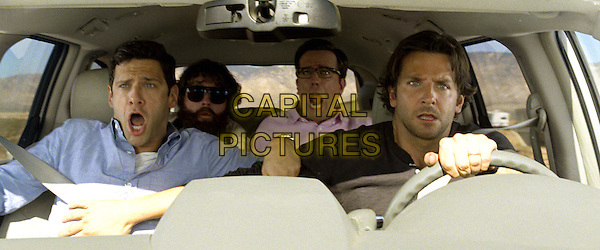 JUSTIN BARTHA, ZACH GALIFIANAKIS, ED HELMS &amp; BRADLEY COOPER<br /> in The Hangover Part III (2013) <br /> 3<br /> *Filmstill - Editorial Use Only*<br /> CAP/FB<br /> Supplied by Capital Pictures