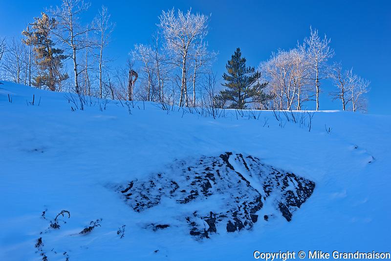 Winter scenic at -40 degrees C.<br />Whiteshell Provincial Park<br />Manitoba<br />Canada