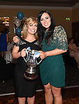 Laura O'Shaughnessy and Lisa Kelly pictured at the Newtown Blues awards night in the Westcourt Hotel.  Photo:Colin Bell/pressphotos.ie