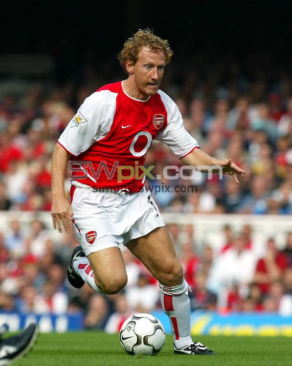 Pix: Rob Matthews/SWpix.com.  Soccer. FA Barclaycard Premiership. Arsenal v Bolton. 21/09/2002...COPYRIGHT PICTURE>>SIMON WILKINSON>>01943 436649>>..Arsenal's Ray Parlour.