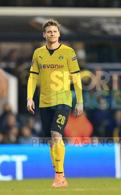 Dortmund's Lukasz Piszczek in action during the Europa League match at White Hart Lane Stadium.  Photo credit should read: David Klein/Sportimage