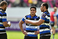 Ben Tapuai of Bath Rugby looks dejected after the match. European Rugby Challenge Cup Semi Final, between Stade Francais and Bath Rugby on April 23, 2017 at the Stade Jean-Bouin in Paris, France. Photo by: Patrick Khachfe / Onside Images
