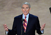United States Senator Rob Portman (Republican of Ohio) makes remarks at the 2012 Republican National Convention in Tampa Bay, Florida on Wednesday, August 29, 2012.  .Credit: Ron Sachs / CNP.(RESTRICTION: NO New York or New Jersey Newspapers or newspapers within a 75 mile radius of New York City)