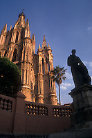 The parish church or Parroquia  de San Miguel Arcangel in San Miguel de Allende, Mexico. San Miguel de Allende is a UNESCO World Heritage site.