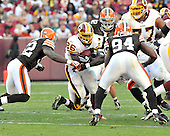 Landover, MD - October 19, 2008 -- Washington Redskins running back Clinton Portis (26) carries the ball in the first quarter against the Cleveland Browns at FedEx Field in Landover, Maryland on Sunday, October 19, 2008.  Portis ran for 175 yards on 27 carries in the Redskins 14 - 11 victory..Credit: Ron Sachs / CNP