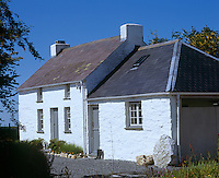 Seen from the front, Bryncyn appears to be a traditional 'two up two down' cottage