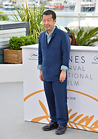 Zhangke Jia at the photocall for &quot;Ash is the Purest White&quot; at the 71st Festival de Cannes, Cannes, France 12 May 2018<br /> Picture: Paul Smith/Featureflash/SilverHub 0208 004 5359 sales@silverhubmedia.com