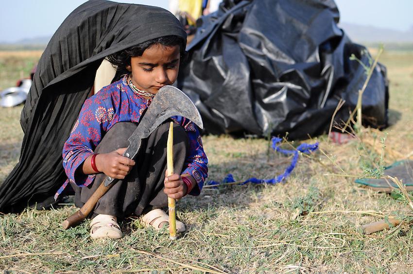 Salma, 5 years old, at play
