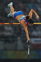 Yelena Isinbayeva, Russia, Pole Vault. Gold medal and world record, 5.05.<br /> Salto con l'asta. Medaglia d'oro e Record del mondo.<br /> National stadium - Bird Nest<br /> Pechino - Beijing 18/8/2008 Olimpiadi 2008 Olympic Games<br /> Foto Andrea Staccioli Insidefoto