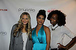"VH1's Jackie Miranne (Big Morning Buzz Live) and Annaliese Dayes (America's Top Model) pose with actress/singer Priyanka Chopra who is celebrating international recording of Priyanka's world video premier of her new single ""I Can't Make You Love Me"" with a private screening on April 28, 2014 at the Tribeca Grand Hotel, New York City, New York.  (Photo by Sue Coflin/Max Photos)"