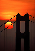 Sunrise at Golden Gate Bridge San Francisco California USA.