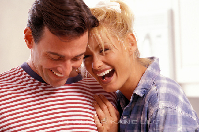 Portrait of a happy laughing couple