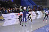 SPEED SKATING: SALT LAKE CITY: 22-11-2015, Utah Olympic Oval, ISU World Cup, Mass Start Ladies, winner Irene Schouten (NED), ©foto Martin de Jong