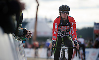 Zach McDonald (USA) warming up<br /> <br /> Elite Men's race<br /> <br /> 2015 UCI World Championships Cyclocross <br /> Tabor, Czech Republic