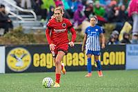 Allston, MA - Sunday, May 1, 2016:  Portland Thorns FC midfielder Allie Long (10) in a match at Jordan Field, Harvard University.