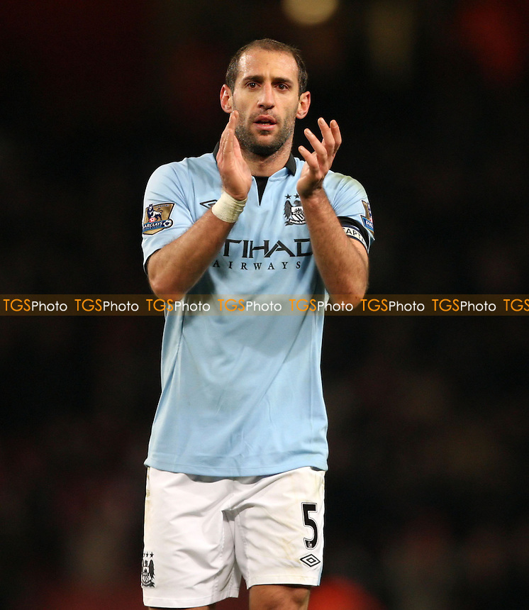Pablo Zabaleta of Man City - Arsenal vs Manchester City, Barclays Premier League at The Emirates Stadium, Arsenal - 13/01/13 - MANDATORY CREDIT: Rob Newell/TGSPHOTO - Self billing applies where appropriate - 0845 094 6026 - contact@tgsphoto.co.uk - NO UNPAID USE.