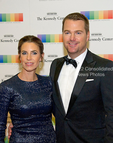 Chris O'Donnell and his wife, Caroline Fentress, arrive for the formal Artist's Dinner honoring the recipients of the 39th Annual Kennedy Center Honors hosted by United States Secretary of State John F. Kerry at the U.S. Department of State in Washington, D.C. on Saturday, December 3, 2016. The 2016 honorees are: Argentine pianist Martha Argerich; rock band the Eagles; screen and stage actor Al Pacino; gospel and blues singer Mavis Staples; and musician James Taylor.<br /> Credit: Ron Sachs / Pool via CNP