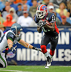 7 September 2008:  Buffalo Bills' wide receiver Roscoe Parrish returns a punt during a game against the Seattle Seahawks at Ralph Wilson Stadium in Orchard Park, NY. The Bills defeated the Seahawks 34-10 in the season opening game...Mandatory Photo Credit: Ed Wolfstein Photo