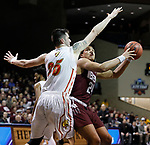SIOUX FALLS, SD: MARCH 22:  Gaige Prim #24 of West Texas A&M goes up against Ferris State defender Zach Hankins #35 during their game at the 2018 Division II Men's Basketball Championship at the Sanford Pentagon in Sioux Falls, S.D. (Photo by Dick Carlson/Inertia)