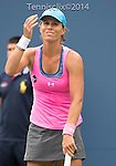 Varvara Lepchenko (USA) loses to Serena Williams, (USA) 6-3, 6-3 at the US Open being played at USTA Billie Jean King National Tennis Center in Flushing, NY on August 30, 2014