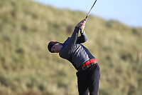 Paul Conroy (Enniscorthy) on the 16th tee during Round 3 of the Ulster Boys Championship at Portrush Golf Club, Portrush, Co. Antrim on the Valley course on Thursday 1st Nov 2018.<br /> Picture:  Thos Caffrey / www.golffile.ie<br /> <br /> All photo usage must carry mandatory copyright credit (&copy; Golffile | Thos Caffrey)