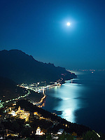 Italy, Italia, Amalfi Coast, Costiera Amalfitana, Ravello, Moonlight