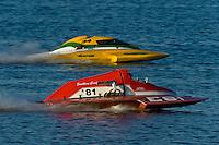 "Mike Weber, E-81 ""Southern Comfort"" (5 Litre class hydroplane) and Matt O'Conner, E-34 ""The Gator"" (5 Litre class hydroplane)"