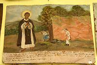 Mexican retablo or ex-voto in San Miguel de Allende, Mexico
