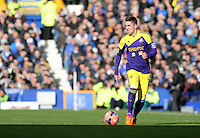 Pictured: Pablo Hernandez of Swansea. Sunday 16 February 2014<br /> Re: FA Cup, Everton v Swansea City FC at Goodison Park, Liverpool, UK.