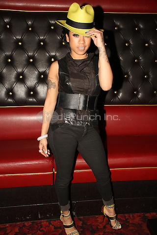 LOS ANGELES, CA - JANUARY 24: Keyshia Cole backstage at the Beats Music Official Launch Party from Beats by Dr. Dre at Belasco Theatre on January 24, 2014 in Los Angeles, California. Credit: Walik Goshorn/MediaPunch