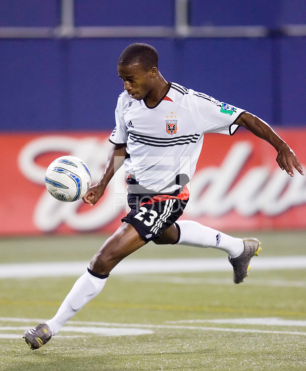 D. C. United's Jamil Walker. D. C. United defeated the MetroStars  4 - 1 at Giant's Stadium, East Rutherford, NJ, on October 1, 2005.