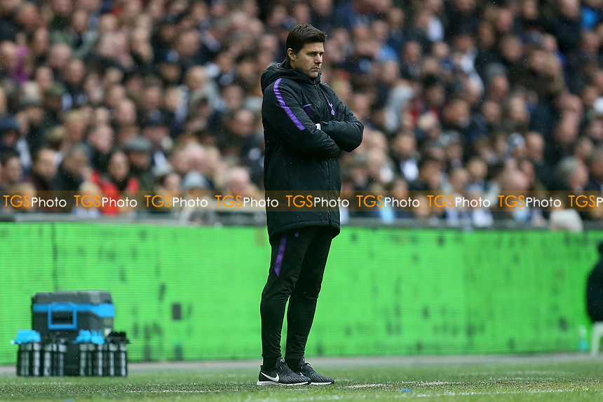Tottenham Hotspur manager Mauricio Pochettino during Tottenham Hotspur vs Cardiff City, Premier League Football at Wembley Stadium on 6th October 2018