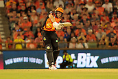 8th January 2018, The WACA, Perth, Australia; Australian Big Bash Cricket, Perth Scorchers versus Melbourne Renegades; David Willey of the Perth Scorchers plays through the leg side during his innings of 55