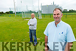 Liam Ross, Chairman of Ballyduff GAA (front right) with Jack Harrington at the Ballyduff GAA field which has been the venue of Anti Social Behaviour, which has appeared on line in recent days.